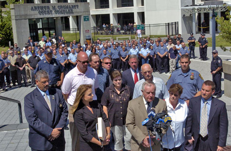 Suffolk County District Attorney Thomas Spota speaks at the press conference.