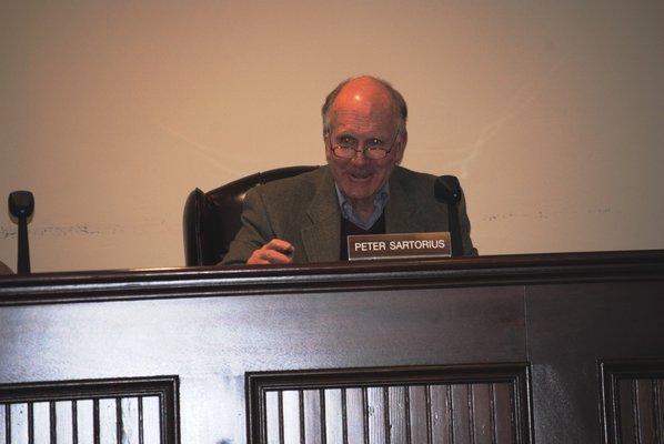 Quogue Mayor Peter Sartorius AMANDA BERNOCCO