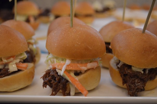 Food selections from the Southampton Social Club at the Taste of Tuckahoe event on Friday night. BY ERIN MCKINLEY