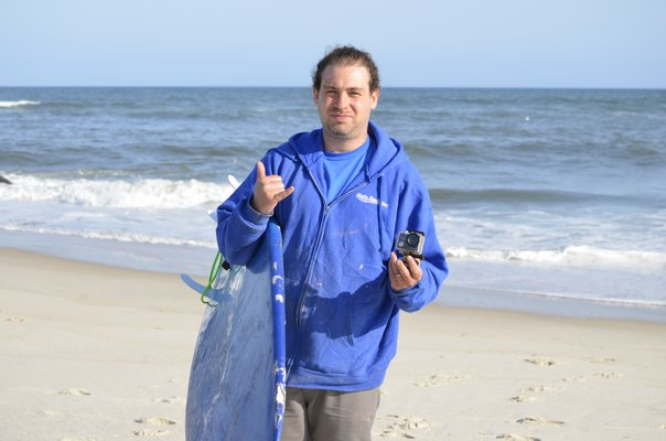 Johnny Sommers lost his Crosstour camera at Lashley Beach in Westhampton Beach last September. ANISAH ABDULLAH
