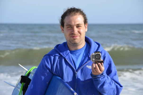 Johnny Sommers's missing Crosstour camera was found at the Shinnecock Inlet last week and returned to him. ANISAH ABDULLAH