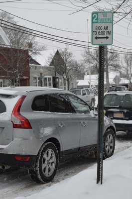 Limited parking on Main Street in East Quogue has been a problem for many years