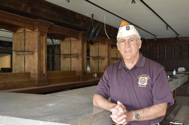 Veterans of Foreign Wars Post 5350 Commander Bill Hughes in the new facility in Westhampton Beach. ALEXA GORMAN ALEXA GORMAN