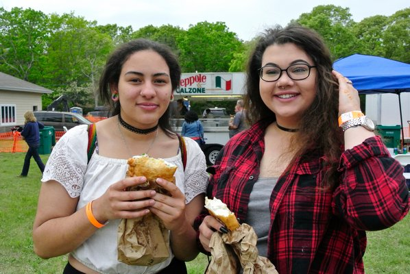 Gabby Aleixo and Cayla Plume at the FRNCA Food Truck Festival on Saturday.