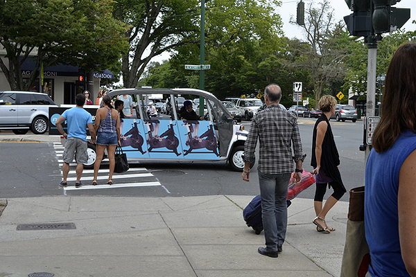 The sidewalks of East Hampton were packed last weekend. SHAYE WEAVER