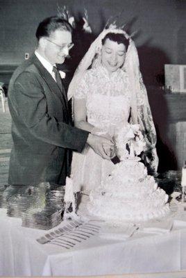 Elizabeth and Richard Haile on their wedding day