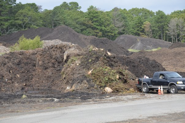 Southampton Town officials are working to increase the capacity of the yard waste facility in Hampton Bays. GREG WEHNER
