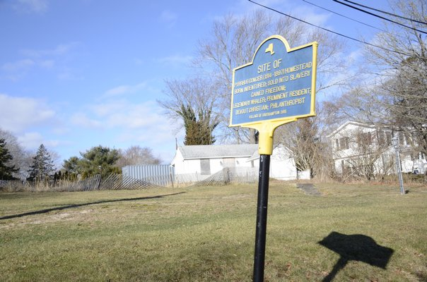 The property in Southampton Village where the Pyrrhus Concer home once stood. GREG WEHNER