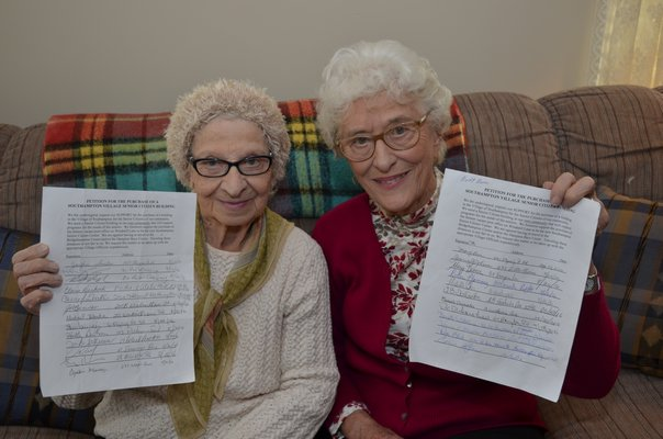 and Audrey Welte are petitioning to have a senior center setup in the Village of Southampton. BY GREG WEHNER