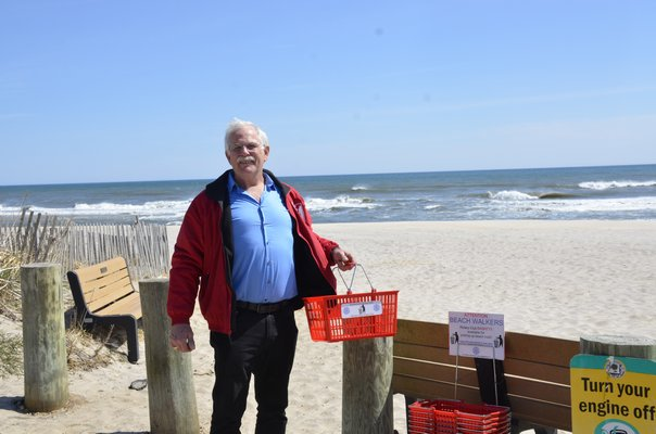 for people to carry and put garbage in when they walk on the beach. GREG WEHNER