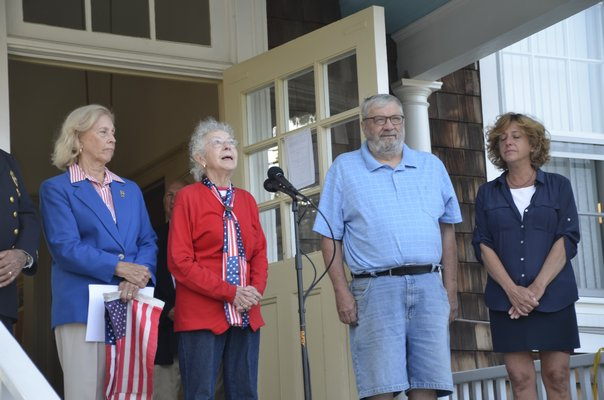 Myron Holtz and Elaine Szczepanik participated in a memorial dedicated to those who died on 9/11. GREG WEHNER