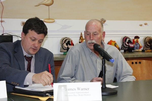 Jay Schneiderman attended the Hampton Bays Civic Association meeting.    VALERIE GORDON