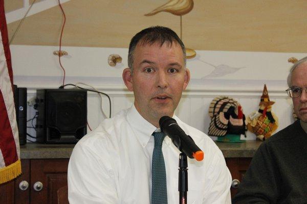 James Warner answers questions regarding water quality. VALERIE GORDON