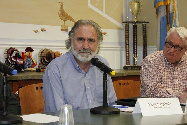Brian Jankauskas answers questions regarding water quality. VALERIE GORDON