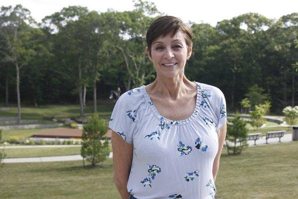 Councilwoman Julie Lofstad at Good Ground Park in Hampton Bays. VALERIE GORDON