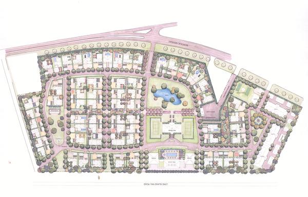 Edmund Hollander's landscaping plan for 555 in Amagansett. COURTESY PUTNAM BRIDGE