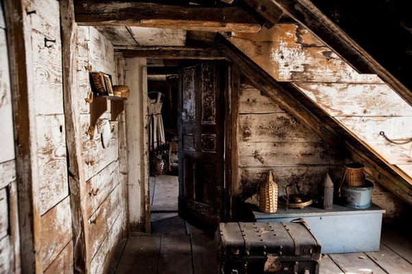 The attic space at Sylvester Manor