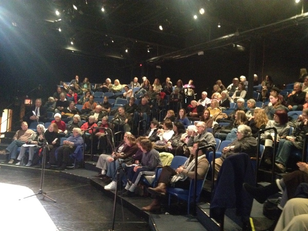 The public packed the theater Thursday night.