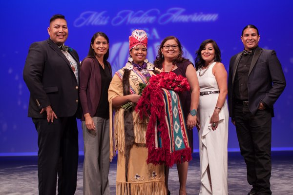 Shinnecock tribe member Autumn Rose Williams was crowned Miss Native American USA 2017 on Saturday at a ceremony in Arizona. TIFFANI POTTER