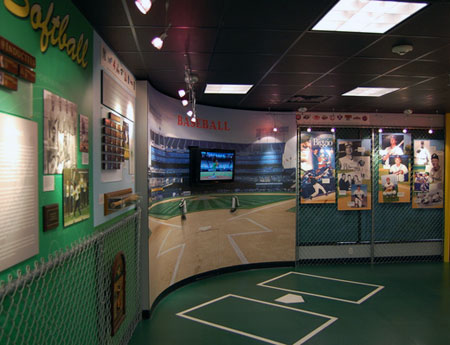 The baseball exhibit at the Suffolk Sports Hall of Fame in Patchogue