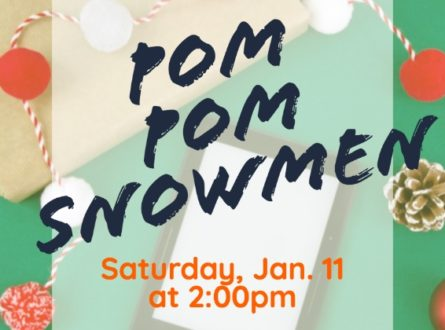 Family pompom snowmen