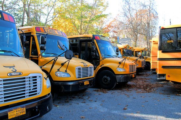 East Hampton School District will have an on-site school bus depot. KYRIL BROMLEY