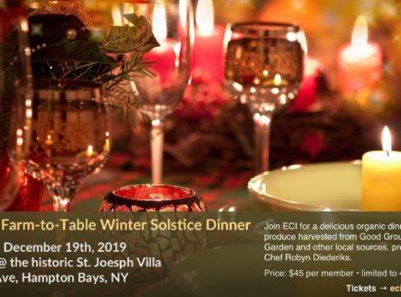ECI Organic Farm-to-Table Winter Solstice Dinner