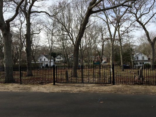 The new fence installed at the St. David AME Zion Church Cemetery COURTESY OF APRIL GORNIK