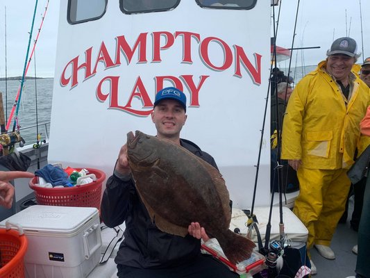 The first doormat fluke of the season came over the rail of the Hampton Lady on Saturday