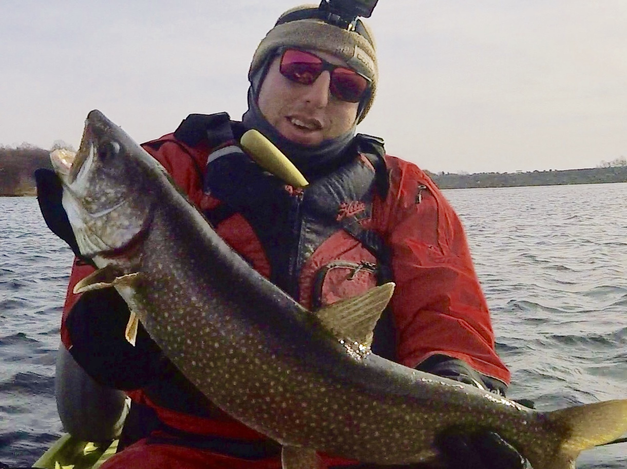 Dan Mendelson of Montauk caught a whopper lake trout while on a jaunt to New Jersey last week.