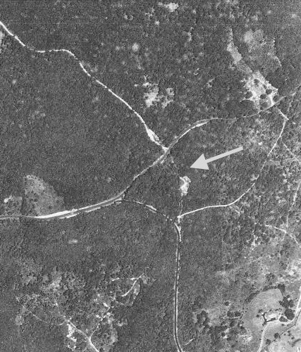 Aerial photos that purport to show that the currently unimproved portion of Cross Highway was in fact cleared and used as a road in the 1930s and 1940s.