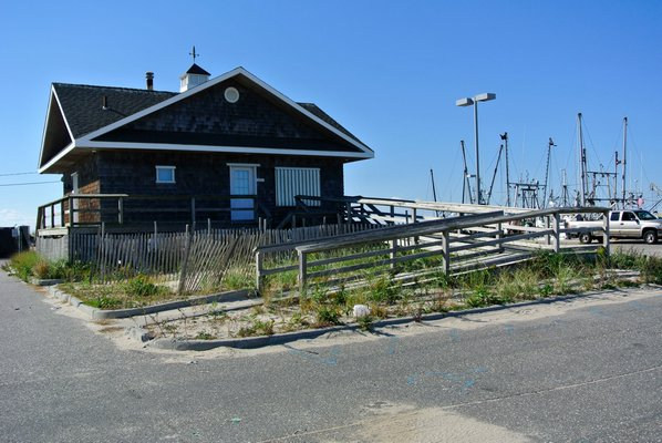 The Commerical Fishing Docks in Hampton Bays a few days after Sandy in 2012.  DANA SHAW