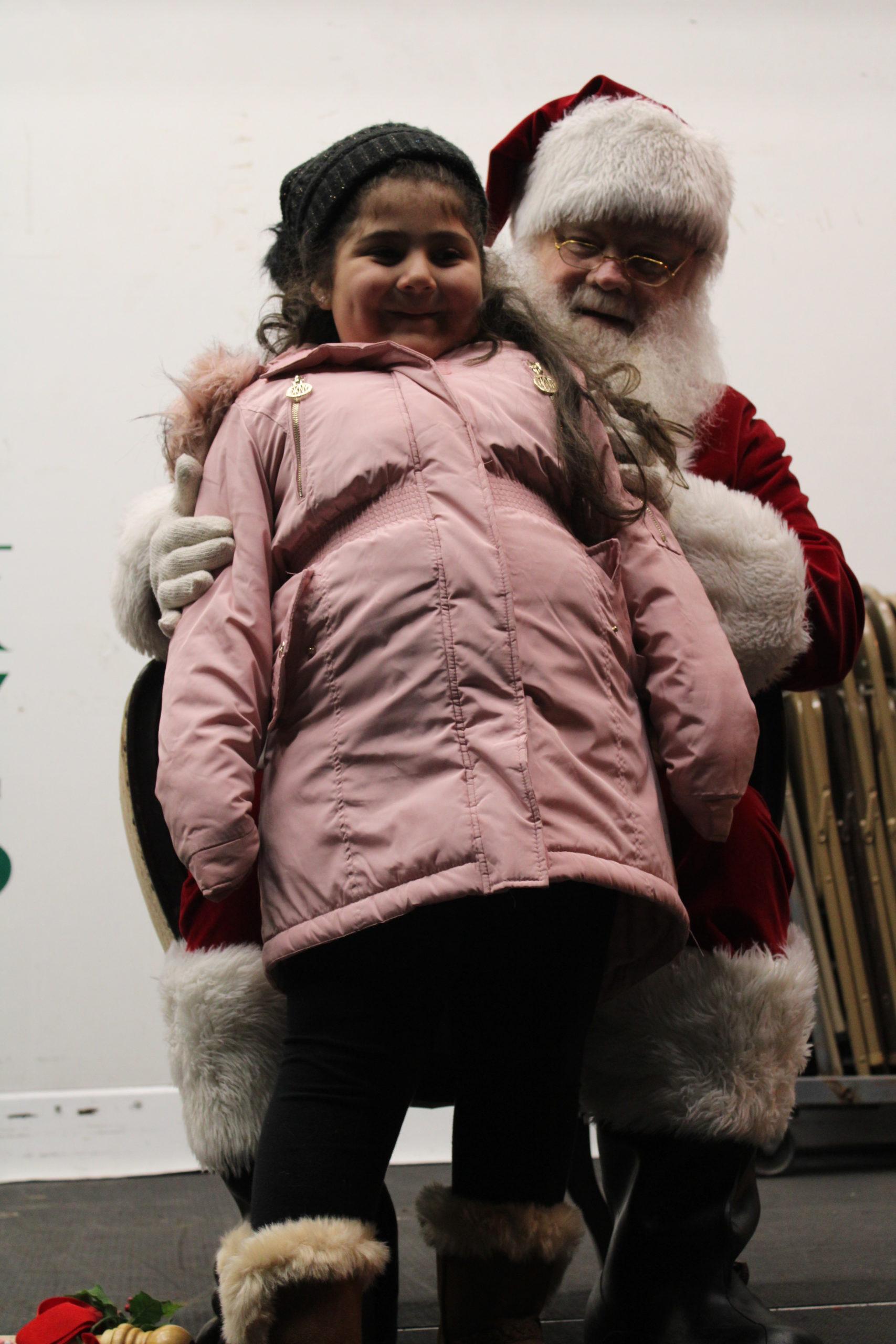 Daralyn Perez meeting Santa.