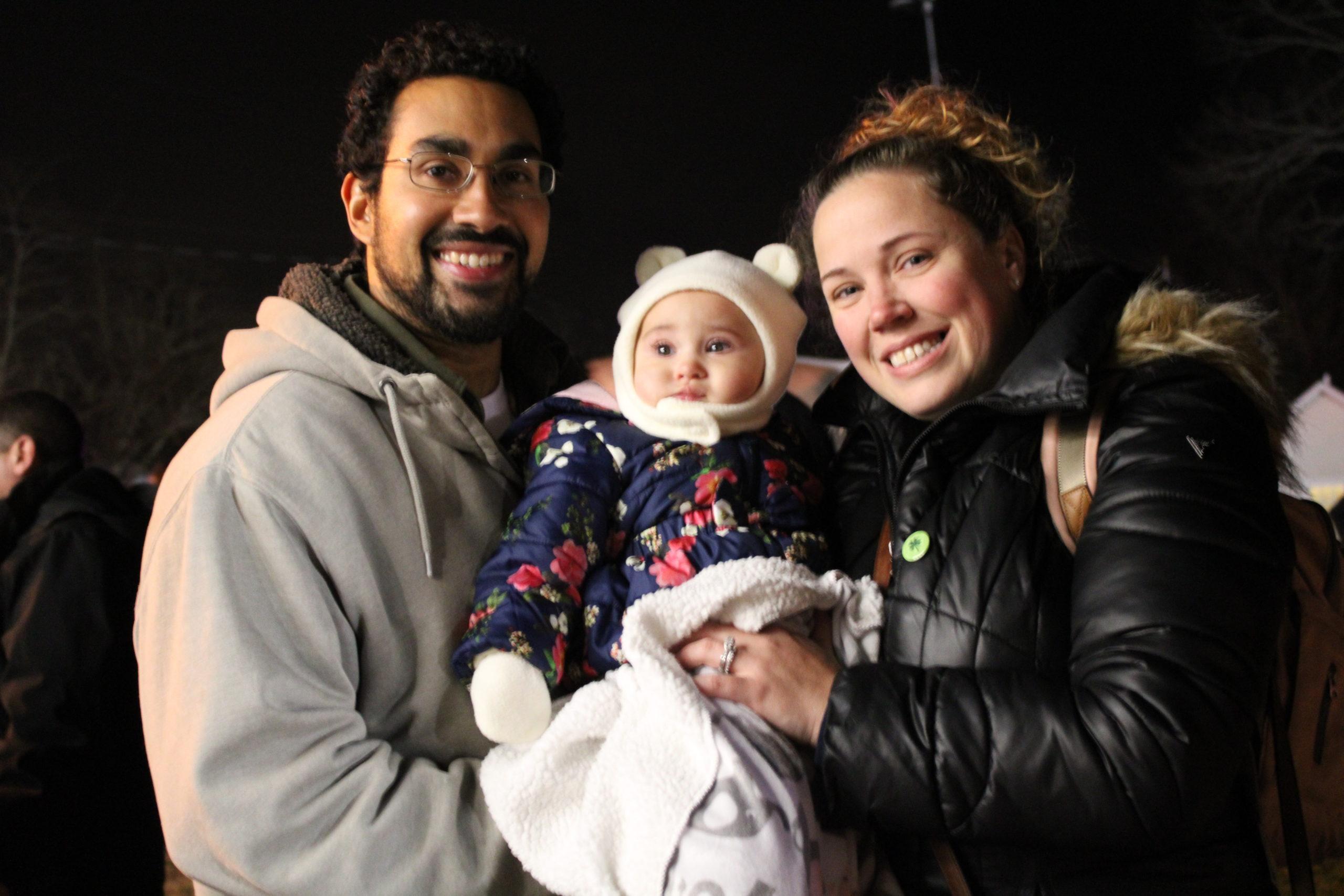 Tony and Jessica Valderrama with their daughter Eliana.