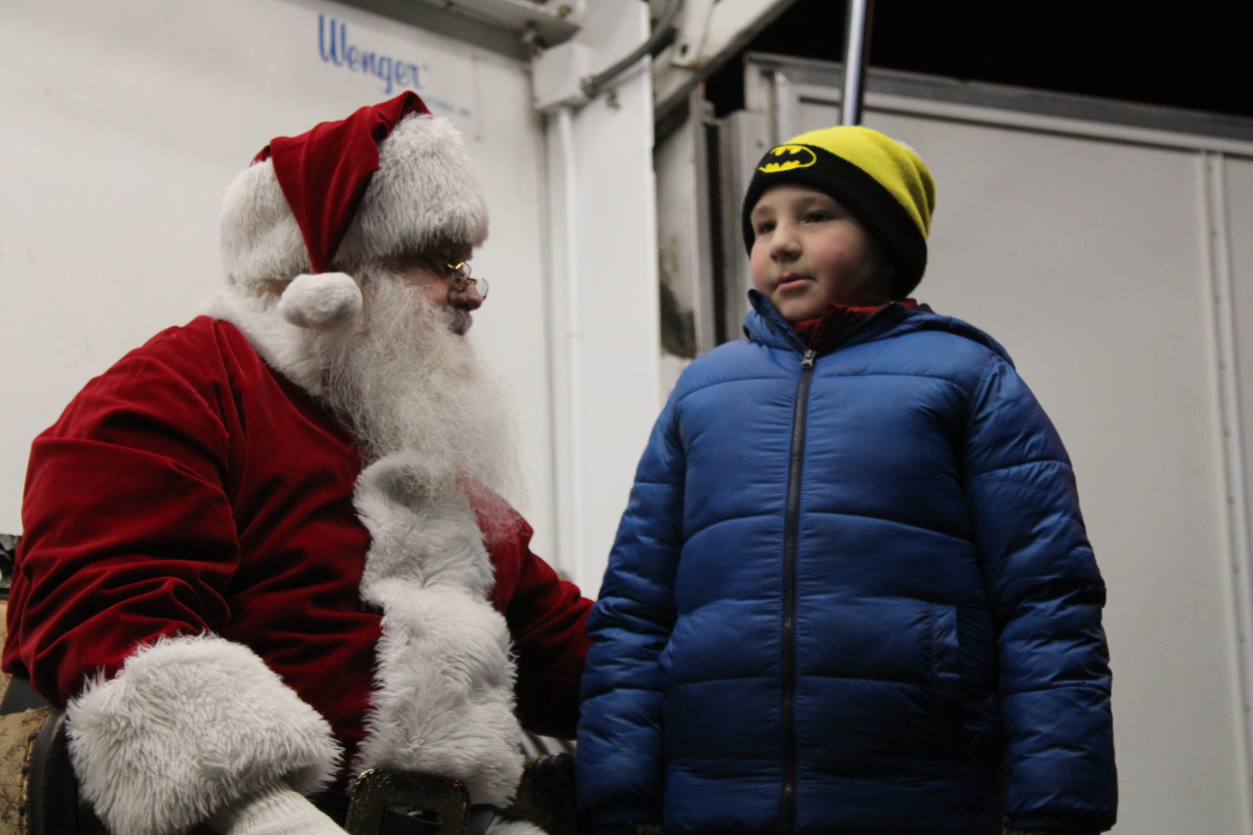 Evan Baldini and Santa.