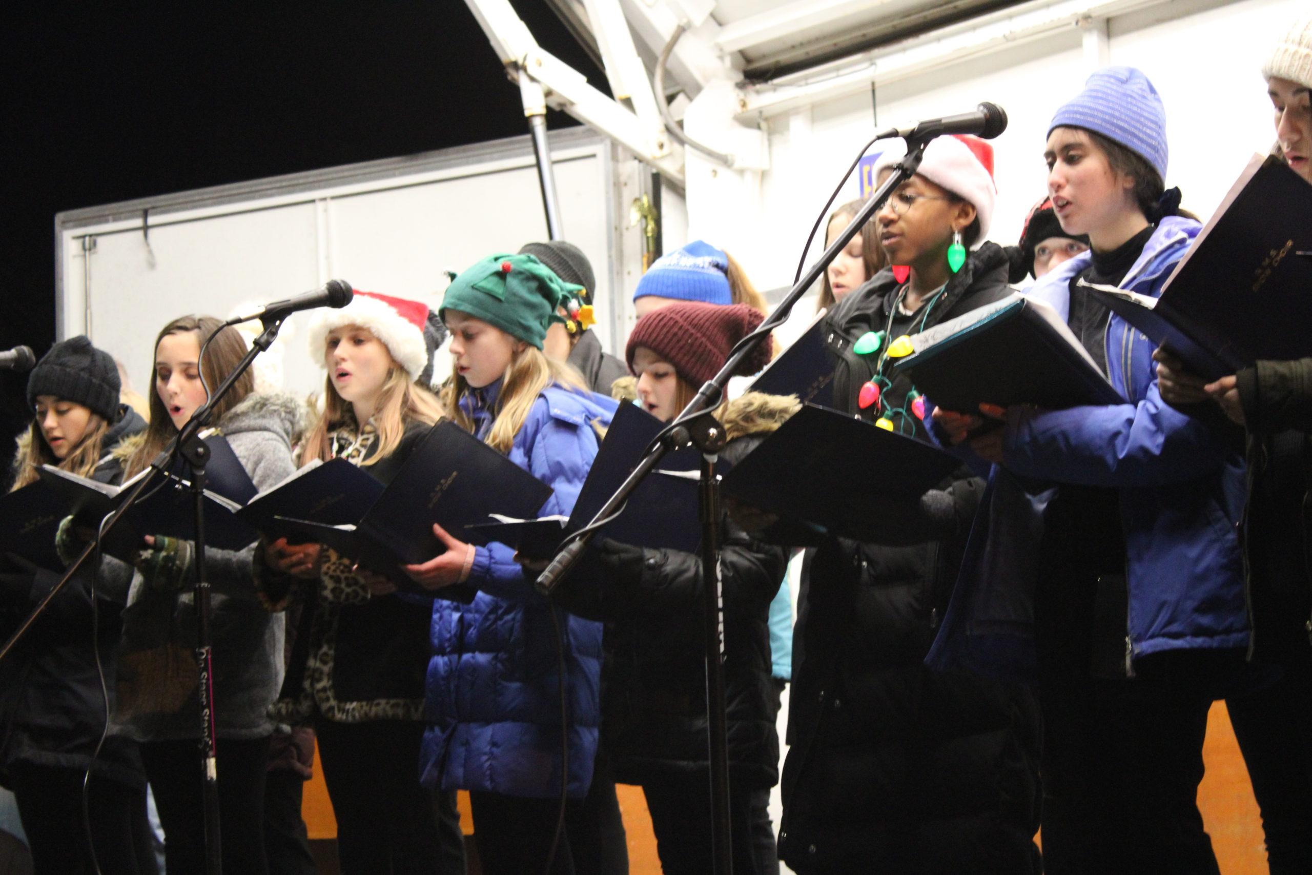 The Riverhead Middle School Show Choir.