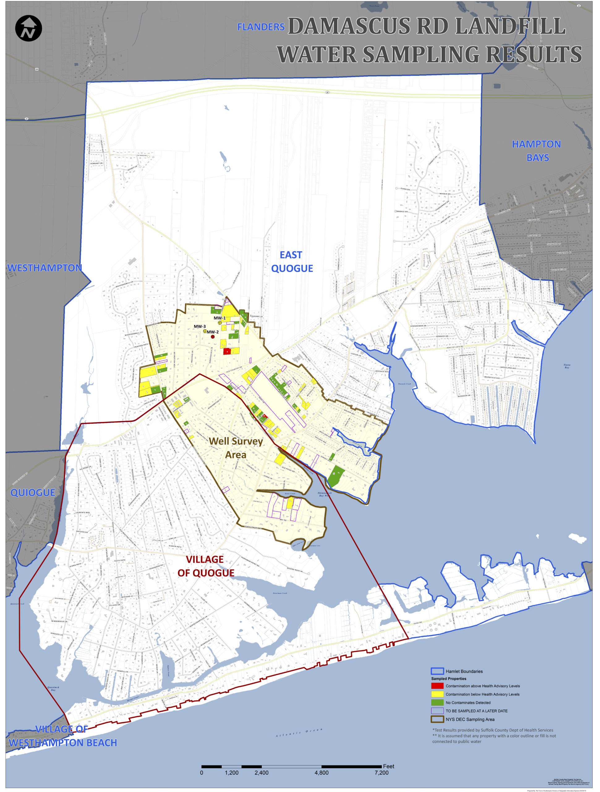 Some East Quogue and Quogue residents would be eligable for public water with the new amendment tp the  East Quogue Public Drinking Water Infrastructure Improvement Program.