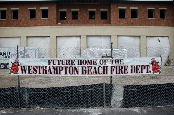The new two-story Westhampton Beach Fire Department firehouse will allow the chiefs and firefighters to operate under the same roof. GREG WEHNER