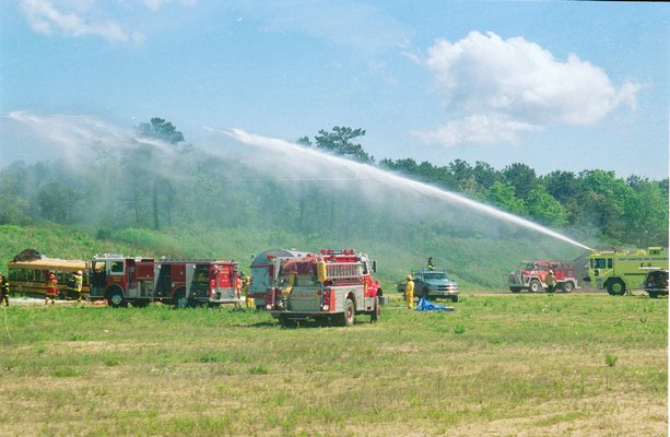 The owners of the Wainscott Sand & Gravel pit in Wainscott say that their investigation of an emergency drill in June 2000 indicates that firefighting foams containing the chemicals PFOS and PFOA were not used by the fire departments who participated.  Michael Wright