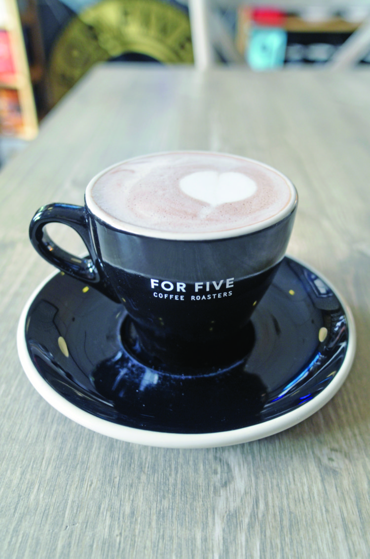 Hot chocolate at For Five in Hampton Bays. KIM COVELL