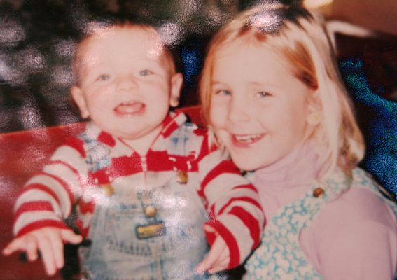 Kirstin Zabel and brother Blaize in 1991.