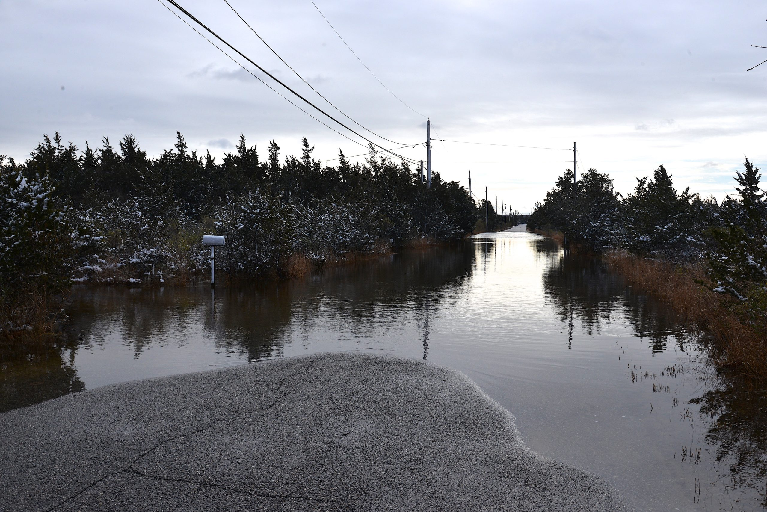 Gerard Drive, which already suffers from chronic flooding during storm tides, is one of the areas consultants are weighing how residents can manage living in a threatened area as sea levels rise.  KYRIL BROMLEY
