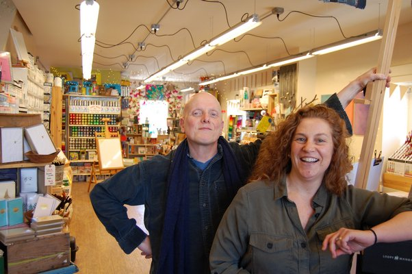 who have partnered up to open a second Golden Eagle Art Supply store. JON WINKLER