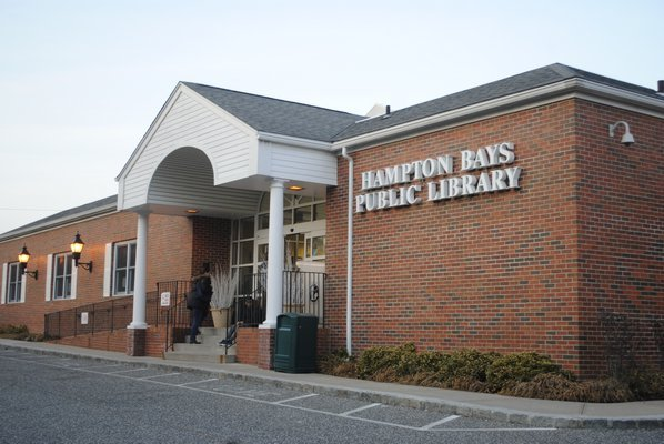 The Hampton Bays Library is seeking nearly $10 million to update its Ponquogue Avenue facility. AMANDA BERNOCCO