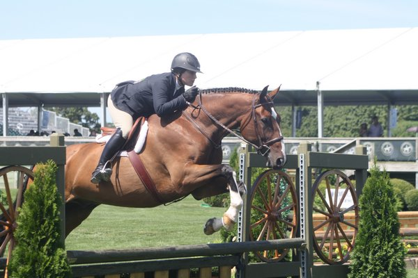Mary Stevenson and Clever Z in the local hunter non-pro class. CAILIN RILEY