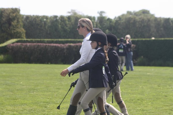 Claire Stevenson and Worthy were champions in the local hunter non-pro division on Sunday. CAILIN RILEY