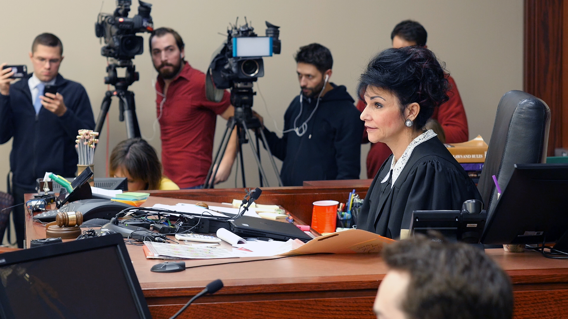 Judge Rosemarie Aqualina during the Michigan trial of Dr. Larry Nassar.