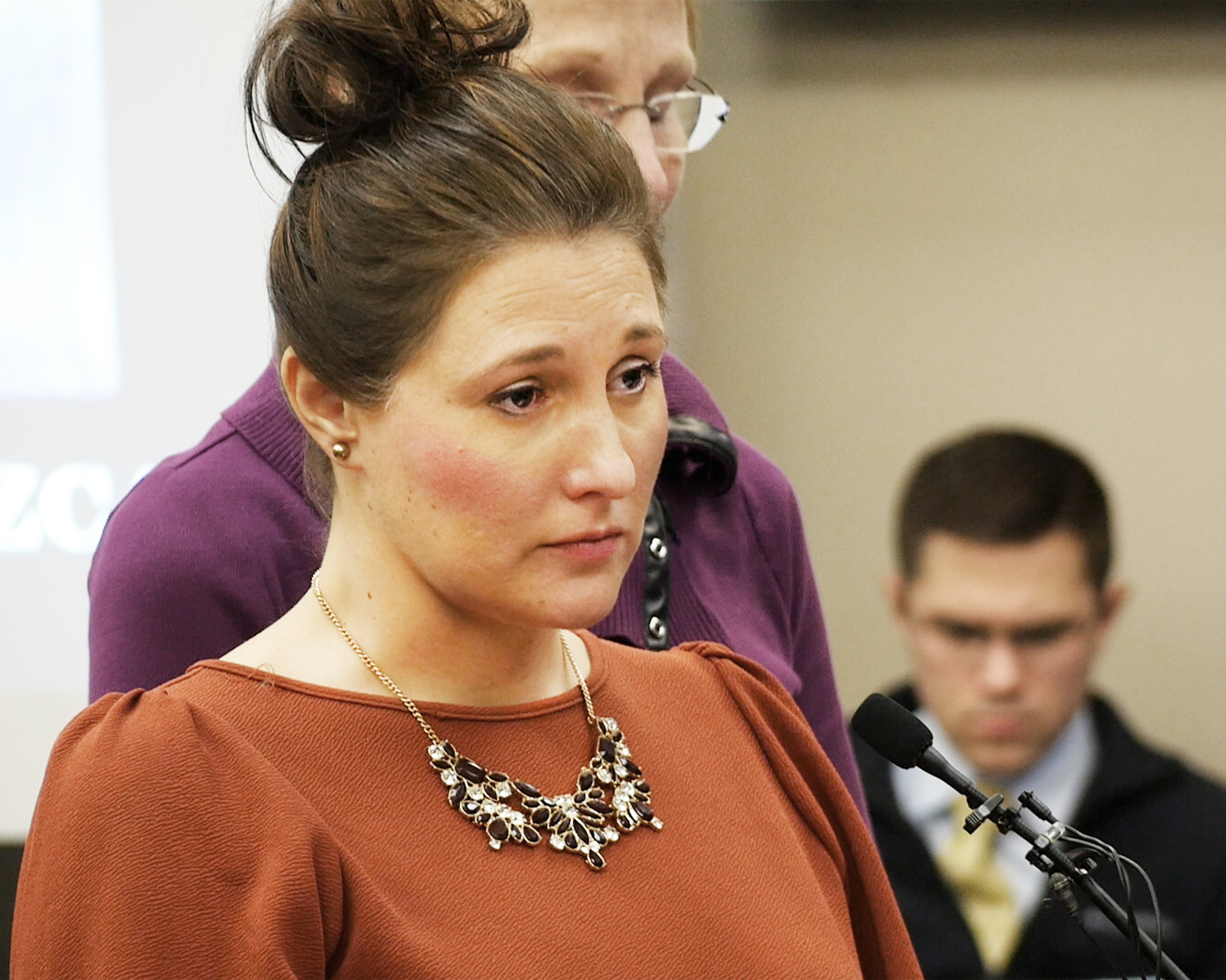 Trinea Gonczar faces long time family friend Larry Nassar to give her victim impact statement in Ingham County, Michigan.