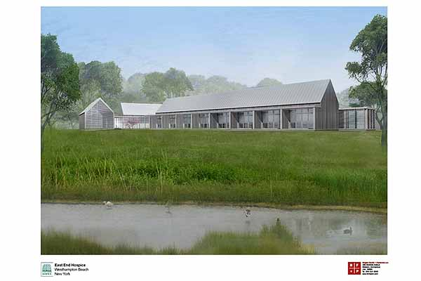 The proposed inpatient hospice facility in Quiogue overlooking the Aspatuck Creek.