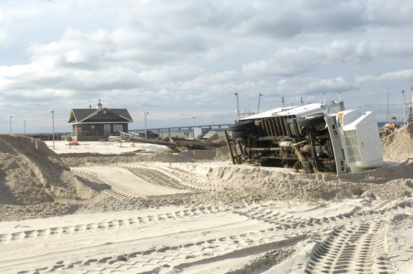 The municipal parking lot in Sag Harbor on Monday. DANA SHAW